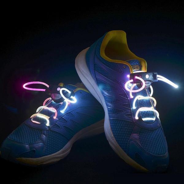 Cariel Yanıp Sönen LED Light up Flaş Parlayan Ayakabı Lazer Ayakabı Fiber Optik Ayakkabı Bağı Aydınlık Ayakkabı Bağcıkları Z107B