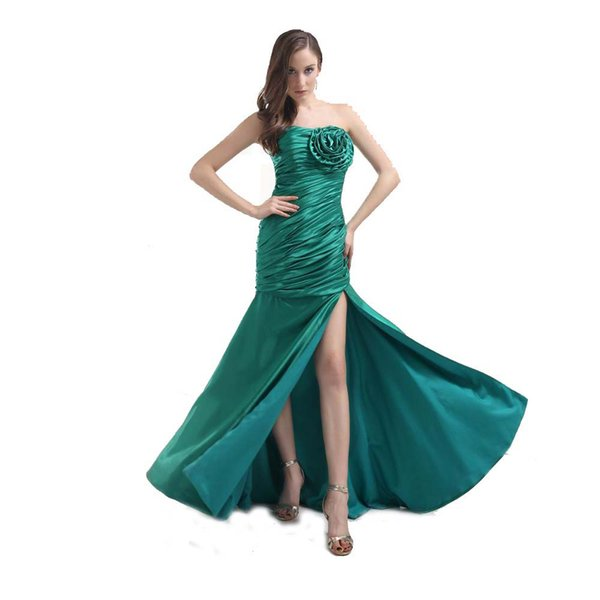 designer dressing gowns ladies Coupons - New Fashion Ladies Green Evening  Dress Banquet Designer Sweetheart High 4dde92fcf