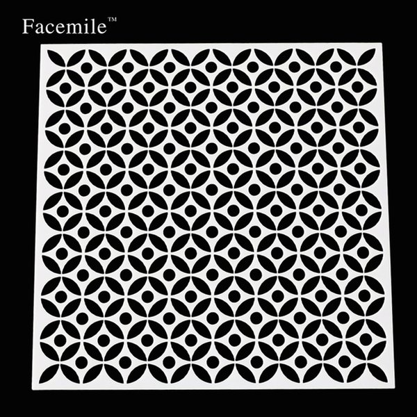 13x13cm Facemile New Brand Stencil For Cake Fondant Cupcake Decorating Baking Cupcake Templates Tools