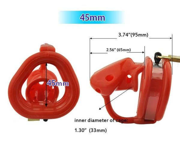 red 45mm ring