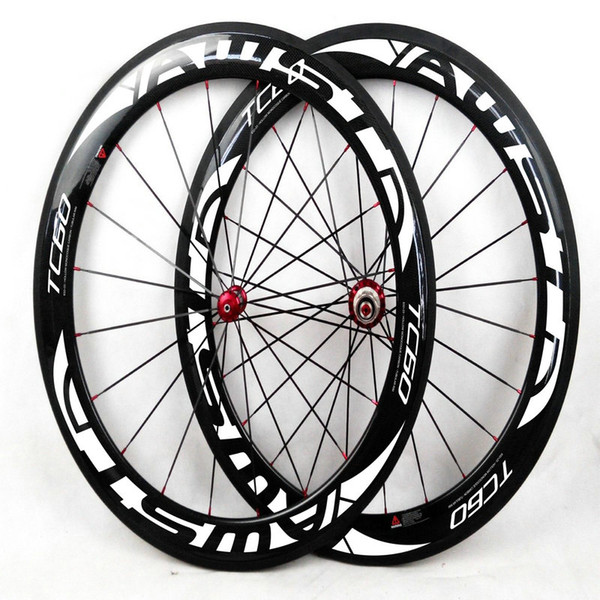 AWST original road bicycle carbon wheels 700c 60mm white decal full carbon wheels set 3K clincher other supply C50/ENV/BOR carbon wheels