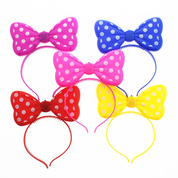 Creative glowing bow flashing toys headband hairpin party girls children children toys small gifts