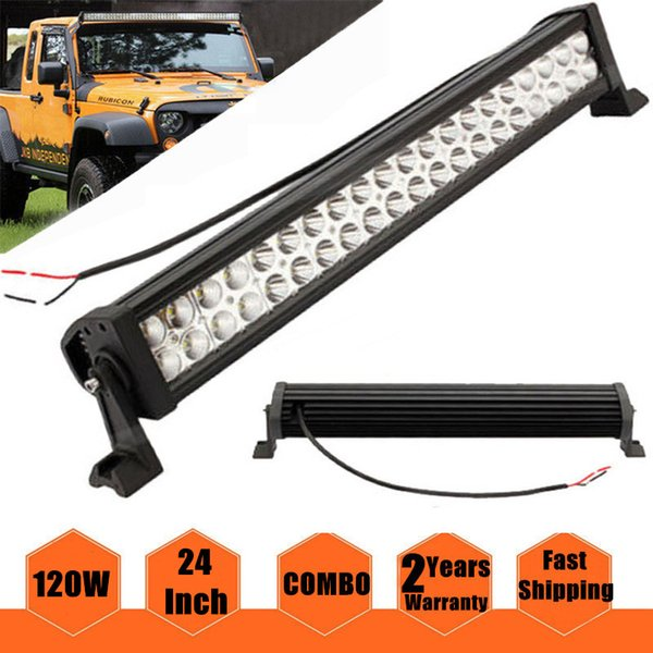 24 inch 120W High Power LED Bar Driving Work Light Bar Combo Beam Spot Flood IP67 Waterproof Off road ATV SUV UTE 4X4 Truck Trailer 10-30V
