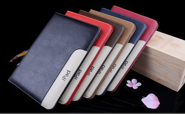 Leather Case For iPad New 2017 Ultra Thin Slim Flip Smart Cover Case For iPad mini 4 Air2