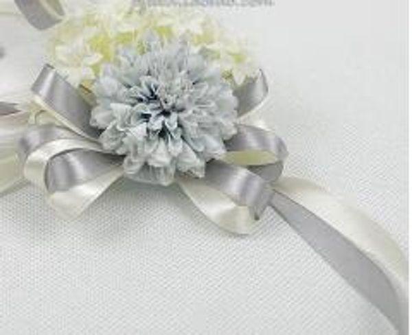 sliver gray wrist flowers