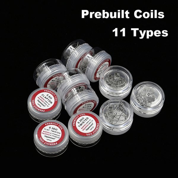 Original Vapesoon Prebuilt Coils for RDA RBA Clapton Hive Tiger Quad Flat Mix Twisted Fused clapton Alien Heating Wires coil Free DHL