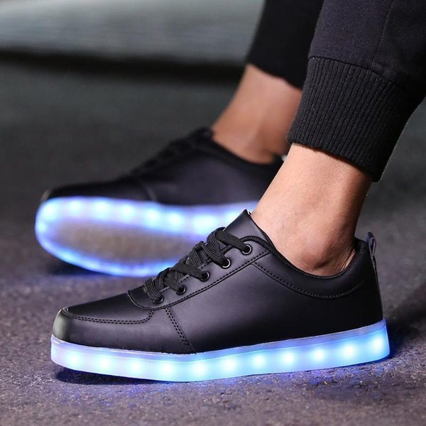Nice Colorful Glowing Shoe Led Shoes Glowing 5 Colors Led Men Female Fashion Luminous Usb Charging Led Light Up Shoes For Adults