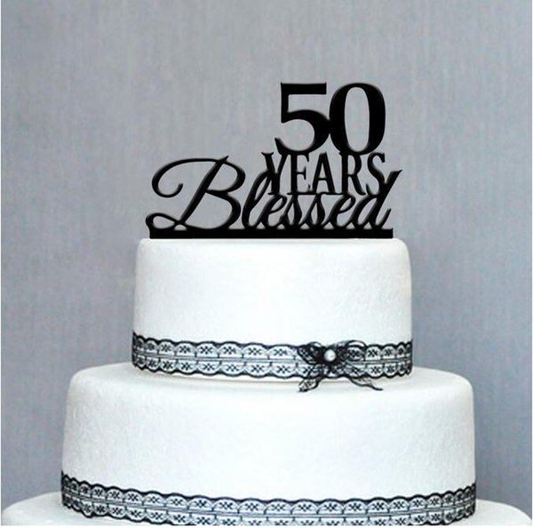 Happy 50th Birthday Cake Topper50th Anniversary Unique Topper