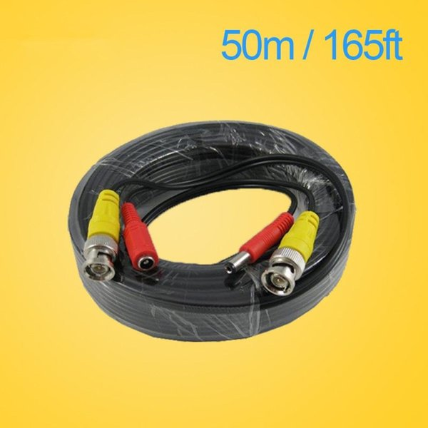 LLLOFAM CCTV Cable 50m 165ft Video Power Cable high quality BNC + DC Connector for CCTV Security Cameras DVR System