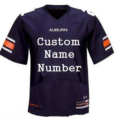 2017 Men s Custom Auburn Tigers College football jerseys Navy Blue White  Stitched Personalized Rugby Jerseys Customized S-XXXL 39c271bb0