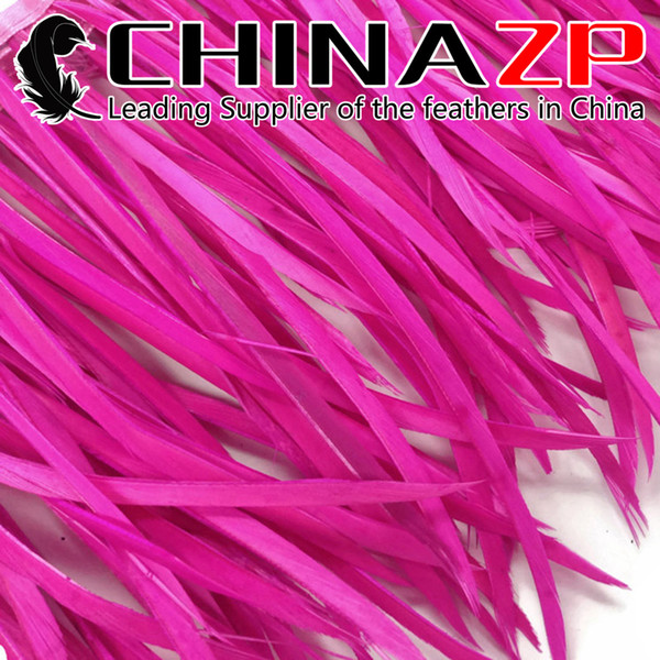 CHINAZP Crafts Factory 10yards/lot 15~20cm(6~8inch) in Width Beautiful dyed Multicolor Goose Biots Feather Trim for Decorations