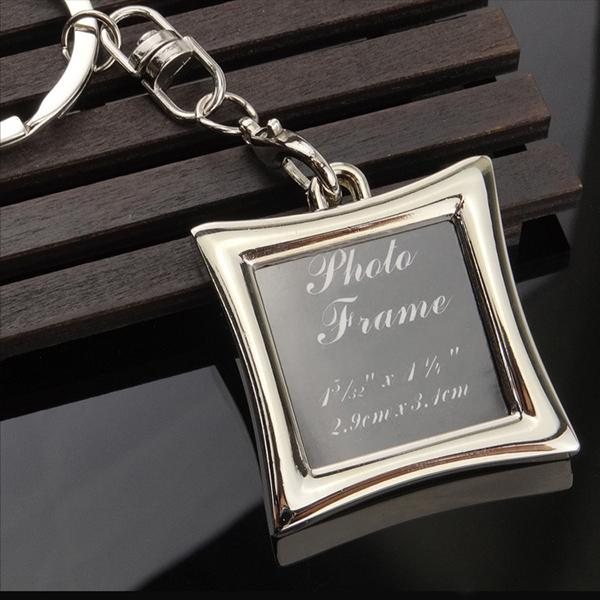 Vogue Insert Photo Picture Frame Custom Keyring Key Ring Keychain Lover DIY Gift high quality free shipping
