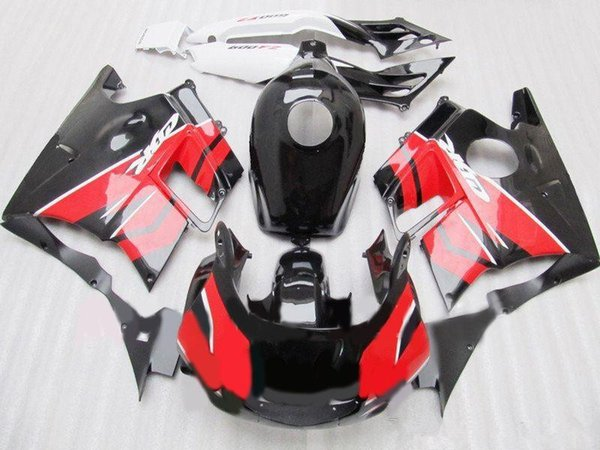 Three free beautiful gift and new high quality ABS fairing plates for HONDA CBR600 CBR 600 F2 1991 1992 1993 1994 Beautiful black red