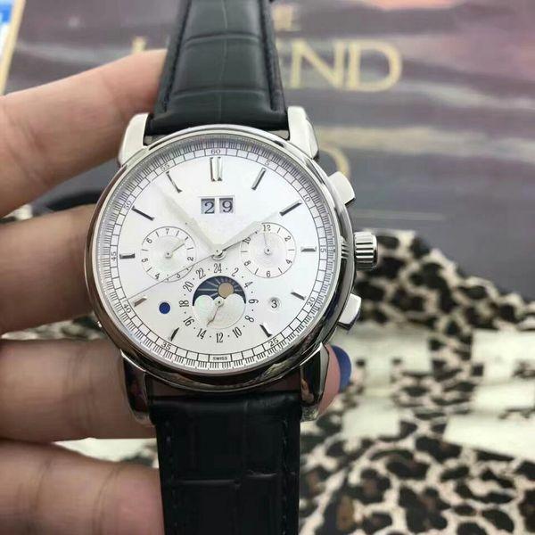 Sıcak satış Lüks erkekler saatler Siyah kalibre rs Otomatik şeffaf cam geri Deri kayış kol saati erkek izle T05 için ücretsiz kargo