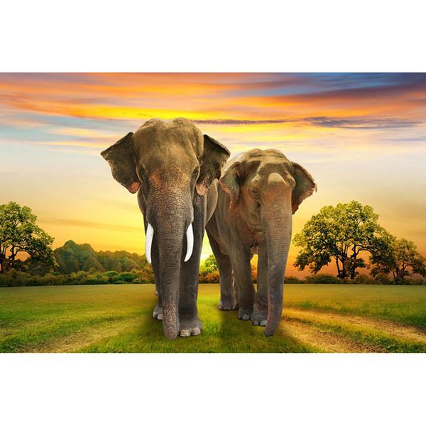 2017 New DIY Diamond Painting Elephant 5D Diamond Mosaic Cross Stitch Embroidery Handmade Home Wall Decor Gifts (Free Shipping)