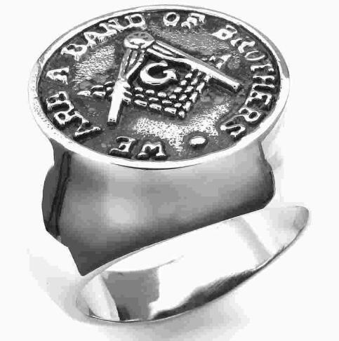316L Stainless Steel Freemasonry Freemasons Symbol Ring SZ#8-14,Free and Accepted Masons Ring,We are a band of brothers ring