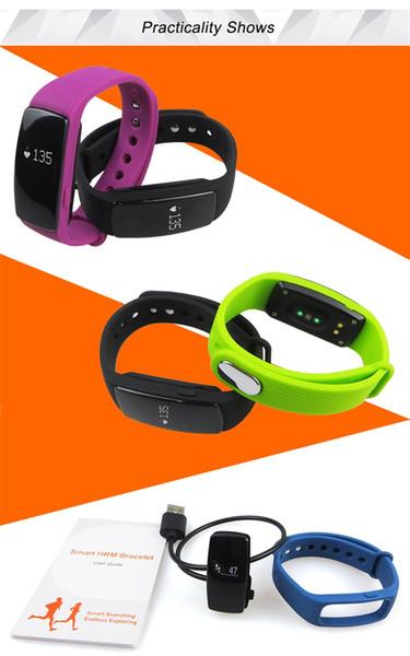2017 fitbit smart watch id107 bluetooth 4.0 pulseira inteligente com monitor de freqüência cardíaca rastreador de fitness esportes relógios de pulso