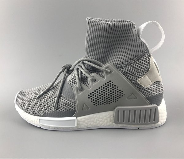 48b3683f1b74 Discount Cheap New NMD XR1 Running Shoes for Men and Womens NMD High Top Sneakers  Grey Color Knitting Boots Size US5-11 Drop Shipping