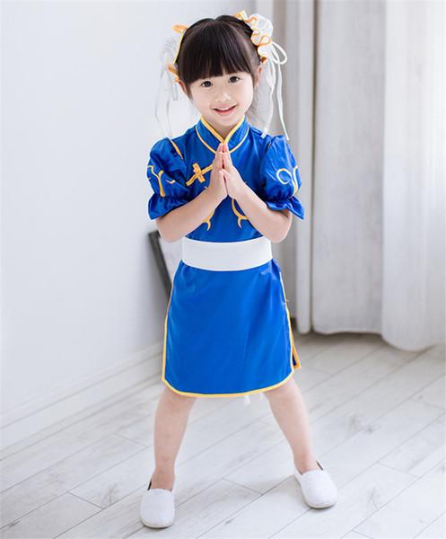 b711f749d Kukucos Street Fighter Girls Cheongsam Summer Children's Clothing Baby  Garden Clothing Chun Li Cosplay Clothing Street