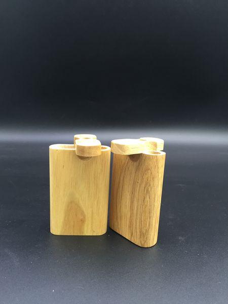 Hölzerner Tabakpfeifen der hölzernen rauchenden Rohre hölzernes Rohreinbaumaßrohr gepasst mit Glasrohröl-Anlageglasbong freies Verschiffen