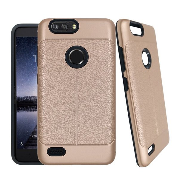 For ZTE Avid 4 Zmax Pro 2 Z982 Z981 Max XL Warp 8 N9517 Tempo X Durable Hybrid Defender Cell Phone Case Shockproof
