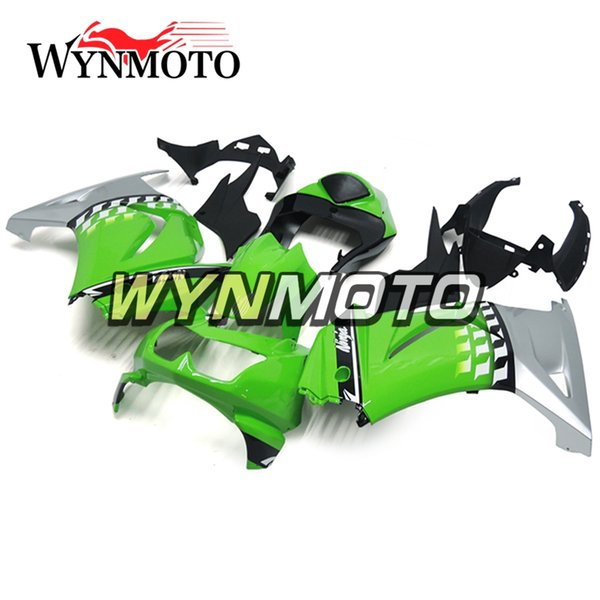 Silver Green Full Fairings For Kawasaki Ninja 250 EX250R 2008-2012 Injection ABS Motorcycle Fairing Kit Cowlings Bodywork Carenes Hulls