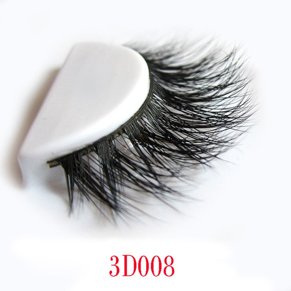 Wholesale- 2017 Hot Sale 1pairs Sexy Women100% Real 3D Mink Full Strip False Eyelash Long Individual Eyelashes Party Mink Lashes Extension