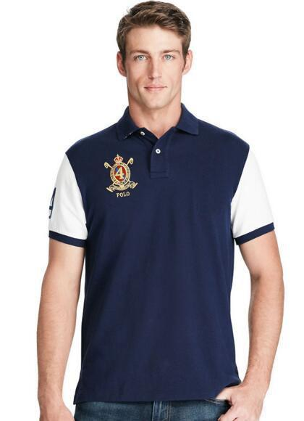 Top Express 2017 American Design polo Shirts Big Horse Print masculina Fashion Casual style Number 2 men polo shirt Golf polos