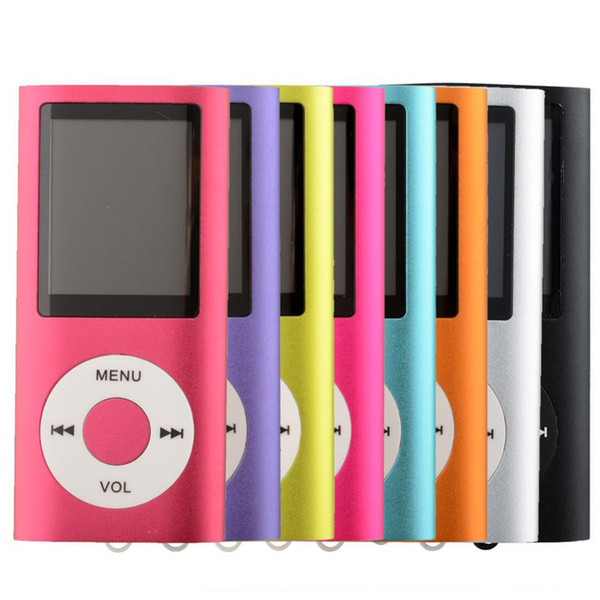 Mini MP4 Music Digital Player 4th 1.8 inch LCD With FM Radio Speakers Retail Packaging 50pcs/lot Free DHL
