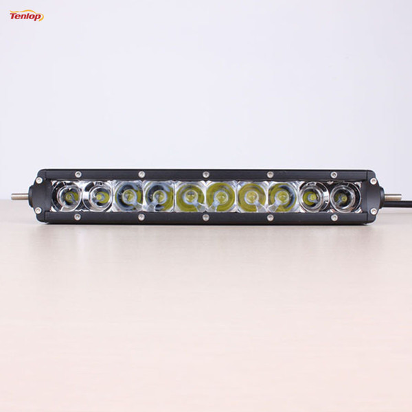"""Hot Sale Free Shipping 11"""" Inch 10*5W 50W Single Row DRL LED Lightbar For SUV Offroad ATV 4*4 Boat"""