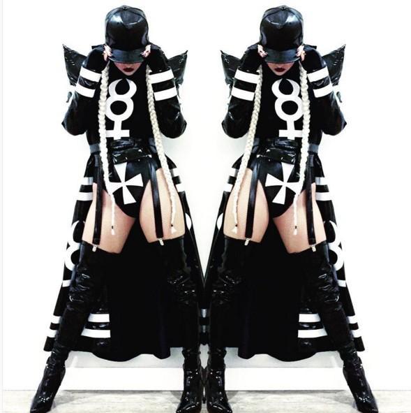 2017 female costume sexy night DJ stage clothing bar DS costumes high-end atmosphere singer dance hip hop club set singer dancer