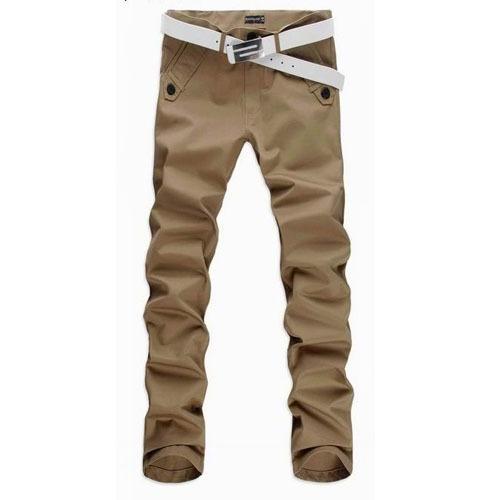 Großhandels- 2017 neue Ankunft Mens beiläufige dünne Hosen Chinos Mode Männer gerade Hose Pantalones Hombre Plus Größe M-4XL 13M0188