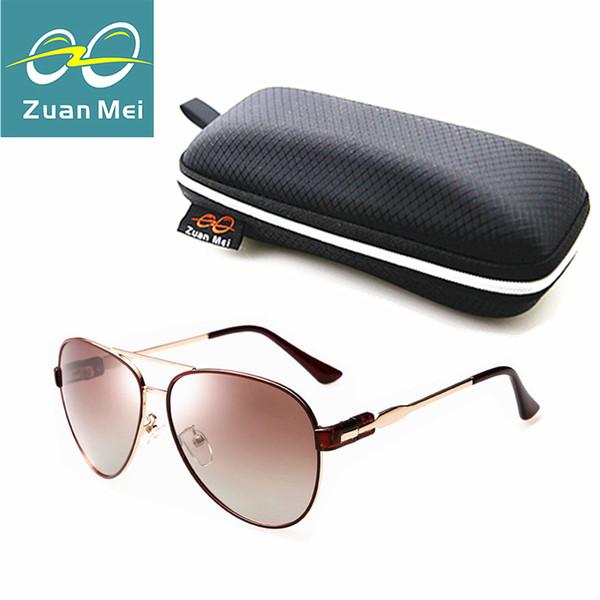 Atacado-Zuan Mei qualidade de luxo polarizada óculos de sol mulheres  Designer de marca aviação c6a02f59a0