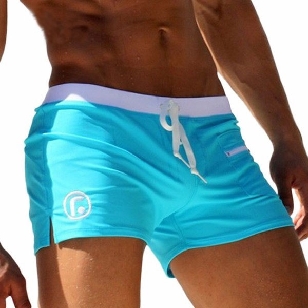 wholesale- men swimwear men's swimsuits surf board beach wear man swimming trunks boxer shorts swim suits, sky blue m