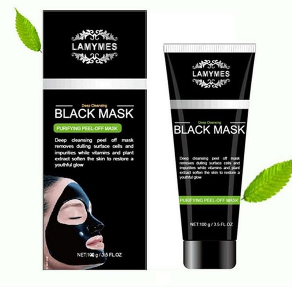 LAMYMES Black Masks Deep Cleansing Black Mask 100ML Blackhead Facial Mask vs Bamboo Charcoal Mask Peel-off face Free shipping