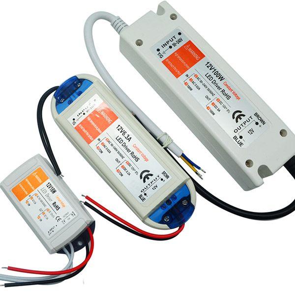 Stromversorgung 12V 6.3A 72W führte Fahrer-Adapter-Transformator-Schalter für LED-Streifen RGB-Deckenglühlampe freies Verschiffen