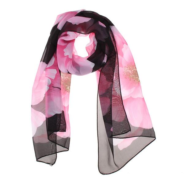 Wholesale Price Wonderful Chiffon Flora Long Soft Scarf more color 160cm Wrap Shawl Stole For Stylish Women/GirlsDM#6