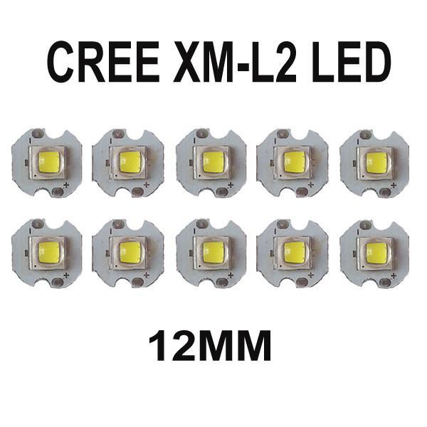 Cree XLamp XM-L2 U3 10 Watt High Power LED Emitter Lampe mit 12mm 14mm 16mm 20mm kühlkörper basis LED Emitter Taschenlampe Modding