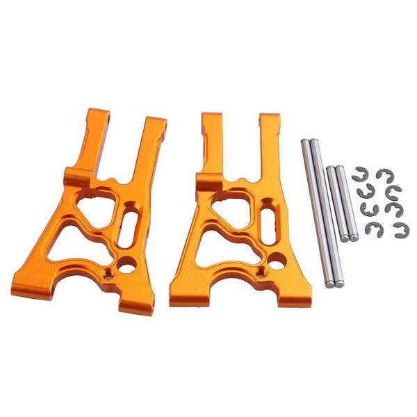 RC HPI 107899 Orange Alum Front Lower Suspension Arm & Pin (L/R) For WR8 Flux