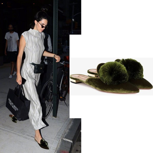 Top Quality High Fashion Luxury Aquazzura Shoes Same Style With Kendall Jenner Women Fashion Shoes Casual Shoes