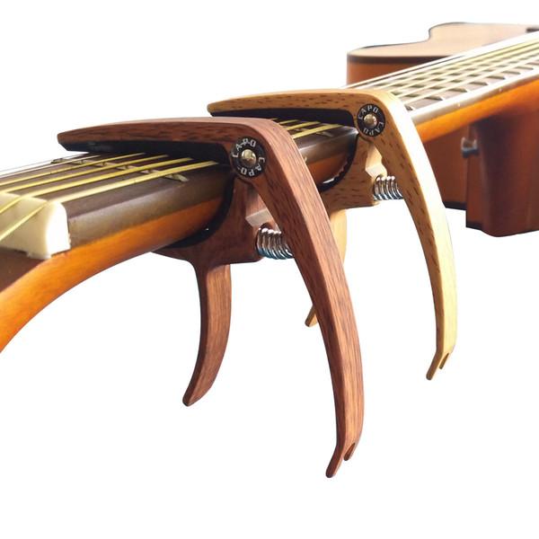 고품질 아연 합금 빠른 클램프 고전적인 일렉트릭 기타 카포 사운드 키 톤 조정