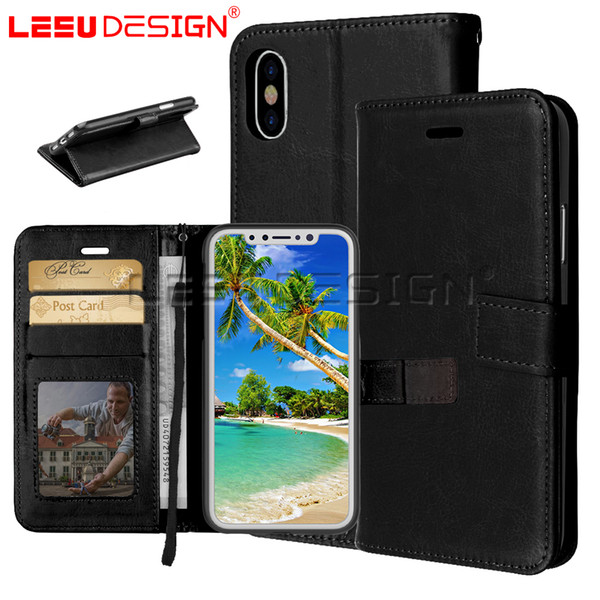 best selling Stocks luxury PU leather Wallet Case 3 Card Slots cover mobile phone cases for iphone xr xs max 5.8 6.1 6.5 9 x 8 7 6 plus samsung s10 lite