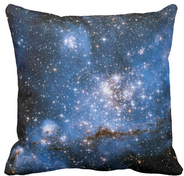 Throw Pillow Case, NGC 346 Infant Stars Square Sofa and Car Cushions Cover (16inch,18inch,20inch)
