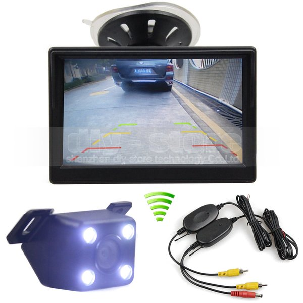 5inch LCD Display Rückansicht Auto Monitor + LED Farbe Nachtsicht Auto Kamera Wireless Parking Security System Kit