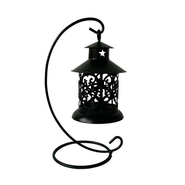 classic Metal cheap souvenir small candle holder house Tea Light Holder Wedding decoration Iron lantern Black color Candle Holder