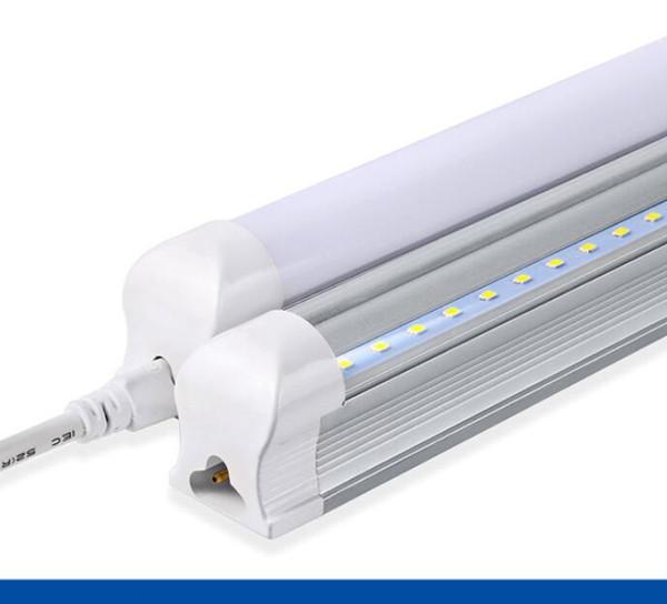 UNS AUF LAGER LED integrierte Röhren T8 4ft 1.2m 1200mm Leuchtröhre 22w LED Birne Röhre LED Lampe SMD2835 Beleuchtung klar / milchig Abdeckung 85-265