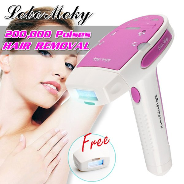 LOBEMOKY Laser Hair Removal Home Safety Hair Removal Device Bikini Removal Body Hair With Backup Head Light 12pcs/lot