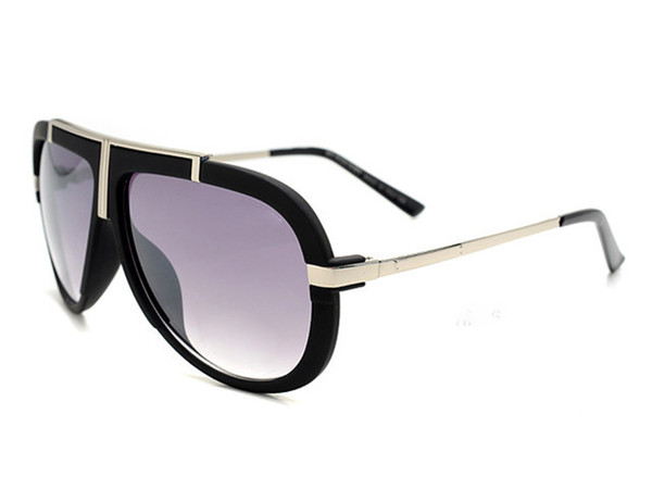 New Arrival Mens & Womens Classic Plank Frame Metal Hinge Flash Sunglasses Lens Driving Sun Glass with box
