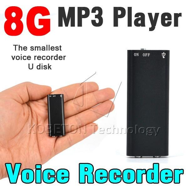 Gros-nouveau 3 en 1 stéréo lecteur de musique MP3 + 8 Go de stockage de mémoire USB Flash Disk Drive + Mini dictaphone audio numérique 8 G dictaphone