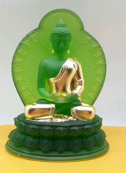 New Buddha statua farmacisti lapis lazuli luce 7 colori golding vetrato vistoso guru della medicina Buddha buddismo statua nel paese